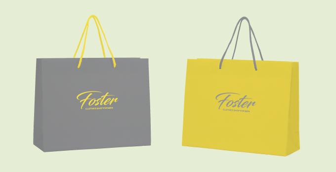 今年の色を使った紙袋デザイン
