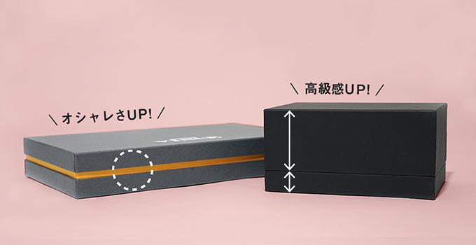 内箱で出せるデザインバリエーション