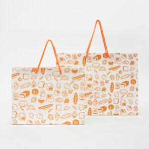 パンのイラスト柄紙袋